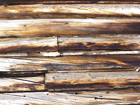 wood siding on tractor garage